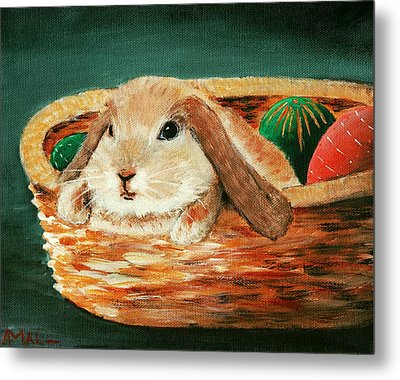 April Bunny Metal Print by Anastasiya Malakhova