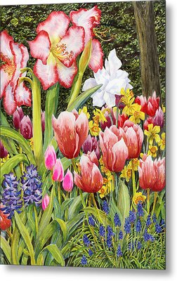 April Metal Print by Karen Wright