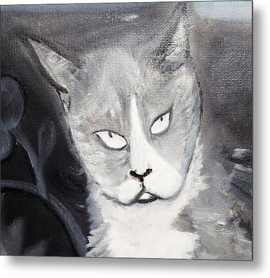 Metal Print featuring the painting April by Leslie Byrne