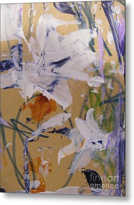 Metal Print featuring the painting April Showers 1 by Nancy Kane Chapman