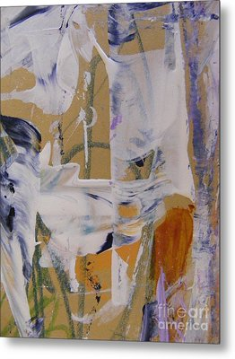 Metal Print featuring the painting April Showers 2 by Nancy Kane Chapman