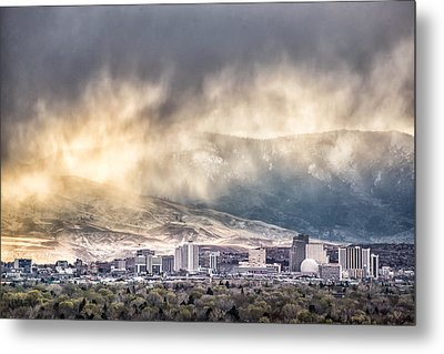 April Showers Over Reno Metal Print by Janis Knight