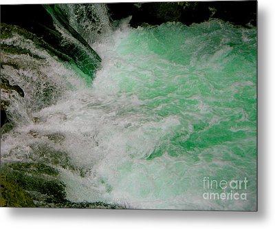 Aqua Falls Metal Print by Rich Collins