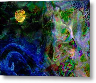 Aqua Lover Metal Print by Diana Riukas