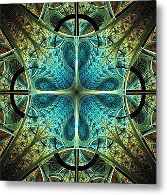 Aqua Shield Metal Print by Anastasiya Malakhova