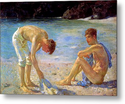 Aquamarine   Metal Print by Henry Scott Tuke