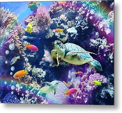 Aquarium Metal Print by Alixandra Mullins