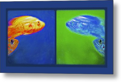 Aquarium Art Diptych Metal Print by Steve Ohlsen
