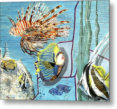 Metal Print featuring the painting Aquarium by Daniel Janda