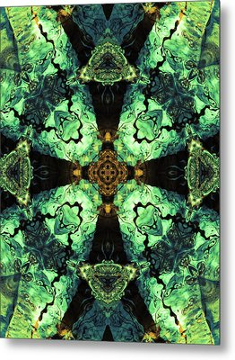 Aquatic Lace 10 Metal Print by Shawna Rowe