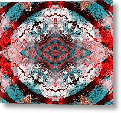 Aquatic Lace 5 Metal Print by Shawna Rowe
