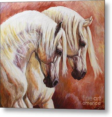 Arab Horses Metal Print by Silvana Gabudean Dobre