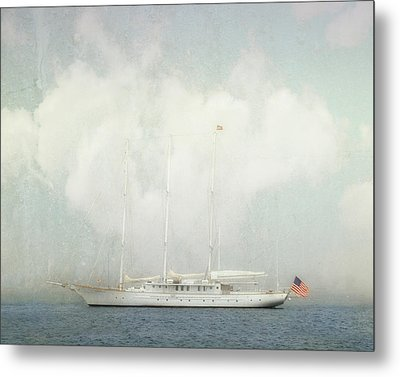 Metal Print featuring the photograph Arabella On Newport Harbor by Karen Lynch