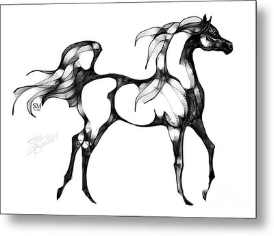 Arabian Horse Overlook Metal Print