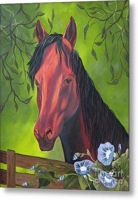 Metal Print featuring the painting Arabian Horse by Terri Mills