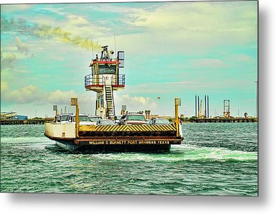 Aransas Pass Texas Ferry Metal Print