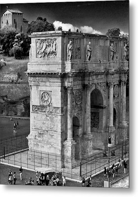 Metal Print featuring the photograph Arch Of Constantine by Matthew Ahola