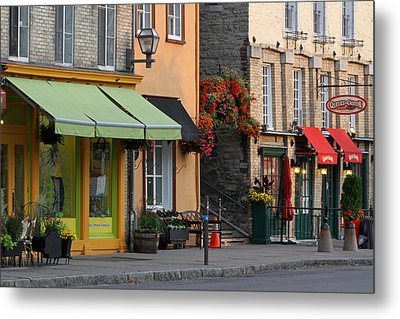 Arch Of Flowers In Old Quebec City Metal Print by Juergen Roth