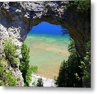 Metal Print featuring the photograph Arch Rock by Debra Kaye McKrill