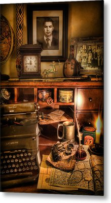 Archaeologist - The Adventurer's Hutch  Metal Print by Lee Dos Santos