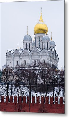 Archangel Cathedral Of Moscow Kremlin - Featured 3 Metal Print by Alexander Senin