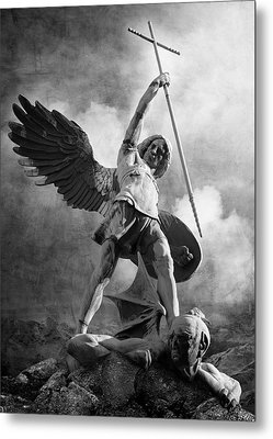 Archangel Michael Metal Print by Marc Huebner