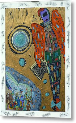 Metal Print featuring the mixed media Archangel Raguel by Clarity Artists