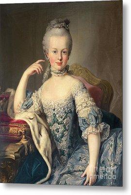 Archduchess Marie Antoinette Habsburg-lotharingen Metal Print by Martin II Mytens