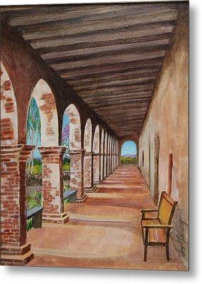 Arched Walkway At Noon  Metal Print by Jan Mecklenburg