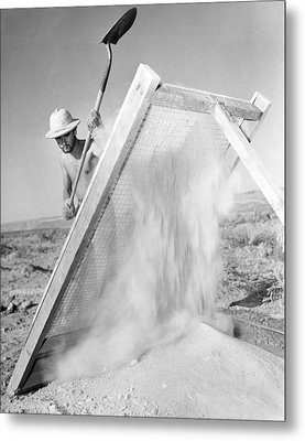 Archeologist At Work Metal Print by Underwood Archives