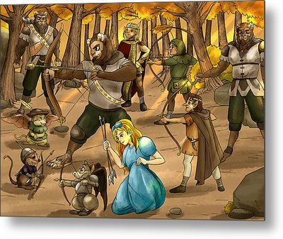 Archery In Oxboar Metal Print