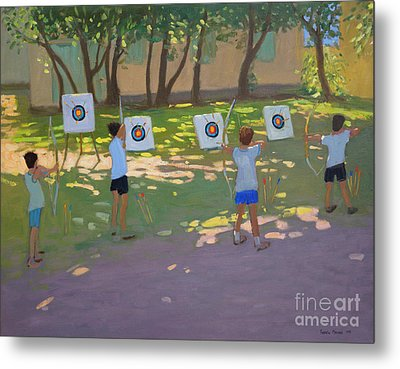 Archery Practice  France Metal Print by Andrew Macara