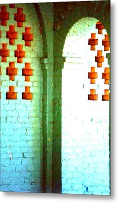 Metal Print featuring the photograph Arches And Crosses New Orleans Louisiana Usa by Michael Hoard