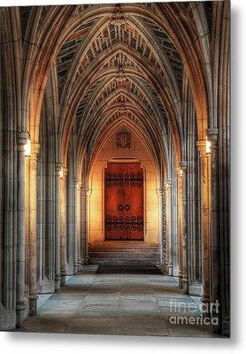 Arches At Duke Chapel Metal Print