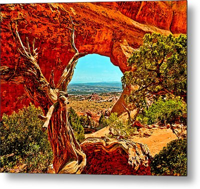 Arches National Park Metal Print by Bob and Nadine Johnston