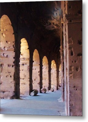 Arches Of The Roman Coliseum Metal Print by Jan Moore