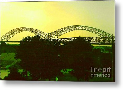Arches Towards Little Rock And Memphis Metal Print by Michael Hoard