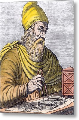 Archimedes Metal Print by French School