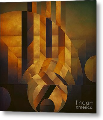 Architectonic Exclusion Metal Print by Lonnie Christopher