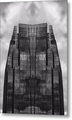Architect's Dream Black And White Metal Print by Dan Sproul