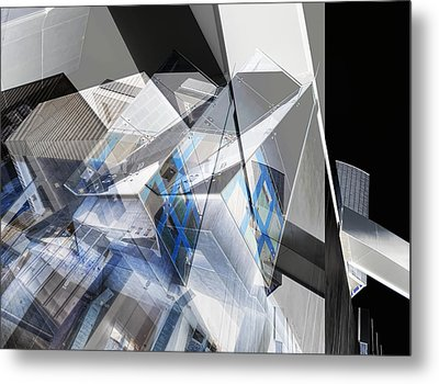 Architectural Abstract Metal Print by Wayne Sherriff
