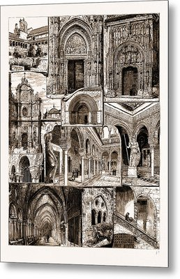 Architectural Art In Spain, 1883 1. Ancient Convent Of San Metal Print by Litz Collection