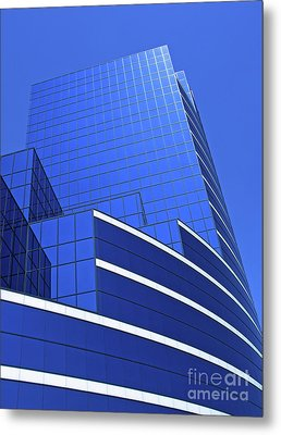 Architectural Blues Metal Print by Ann Horn