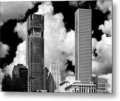 Architectural Diversity Houston Tx Metal Print by Christine Till