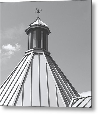Architectural Gray Metal Print by Ann Horn