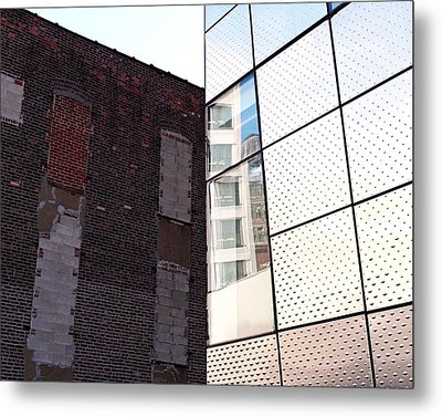 Architectural Juxtaposition On The High Line Metal Print by Rona Black