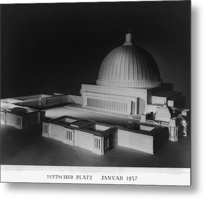 Architectural Model Of Berlin Metal Print by Everett