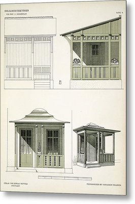Architecture In Wood, C.1900 Metal Print