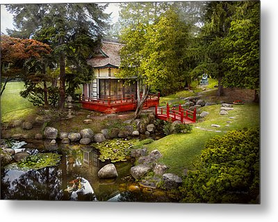 Architecture - Japan - Tranquil Moments  Metal Print by Mike Savad