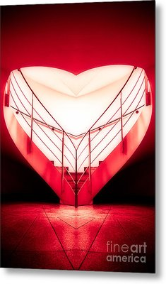 architecture's valentine - redI Metal Print by Hannes Cmarits